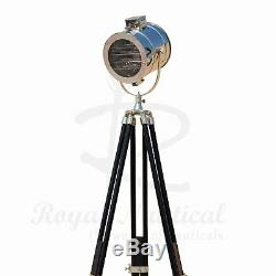 Modern Black Wooden Tripod Stand Floor Lamp LED Vintage Lighting Antique Light