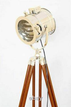 NAUTICAL Vintage Designer FLOOR Spotlight Tripod Lamp Home Decor Halloween Gift
