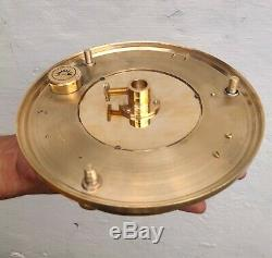 Nautical Antique Brass 8'' Inch Sundial Compass With Vintage Wooden Tripod