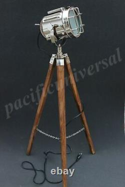 Nautical E 27 Floor Lamp With Tripod Vintage Searchlight Studio Lamp Decorative
