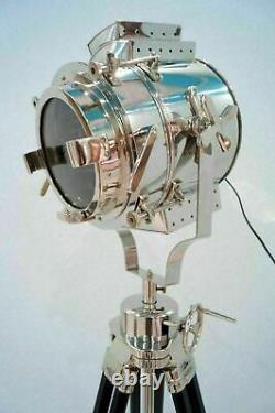 Nautical Floor Lamp With Revolving Tripod Marine Vintage Designer