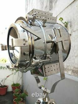 Nautical Spot Light Searching Light With Tripod Vintage Adjustable Unique Light