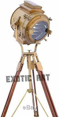 Vintage Searchlight Steel Floor Lamp Spotlight Floor Tripod