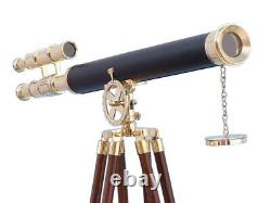 Nautical Vintage Design Telescope With Tripod Stand Watching Brass Spyglass Item