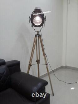 Nautical Vintage Searchlight Tripod Floor Lamp Spotlight Home Decor