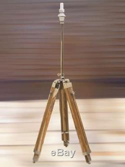 Nautical Wooden Tripod Floor Lamp Modern Vintage Wooden Lighting Floor Lamp