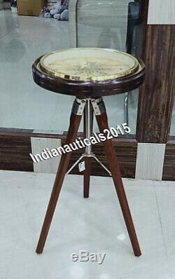 Nautical Wooden Tripod Vintage Style Office Room Gift Item