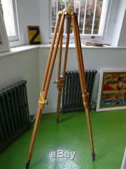 Nice vintage surveyors tripod or theodolite stand wooden