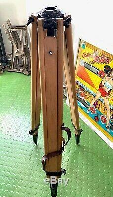 Nice vintage wooden surveyors tripod original