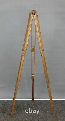 OLD Soviet Wooden Tripod Sliding Tripod Telescopic for Camera Vintage