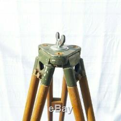 Old Wooden Tripod Reflector Stand Floor Lamp Industrial Vintage Loft Design