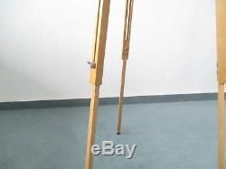 Original Vintage Berlebach Mulda Holzstativ wooden tripod mit Panoramakopf