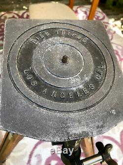 RIES Vintage 1930's Large Fomat Wood Tripod Swivel/Tilt, Extensions