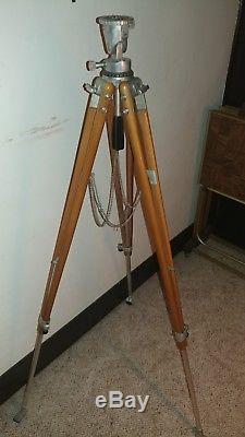 Rare Vintage Bolex Precision Tripod With Wooden Legs