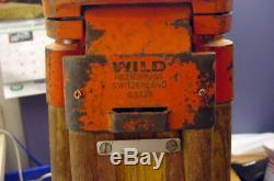 Rare, Vintage Wild Heerbrugg Gst20 Large Extendable Wooden Legs Surveyors' Tripod