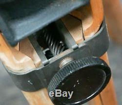 Rare Vintage Wood Bell & Howell Pan Tilt Movie Camera Tripod! 1u77