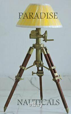 Restoration Hardware Side / End / Table Lamp Vintage Wooden Tripod Halloween