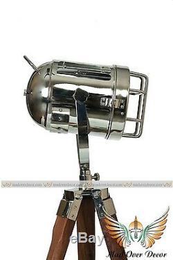 Retro Design Vintage style Spotlight searchlight Telescopic Tripod Floor lamp