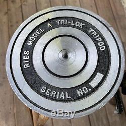 Ries Model A Tri-Lok Wooden Medium / Large Format Photography Vintage Tripod
