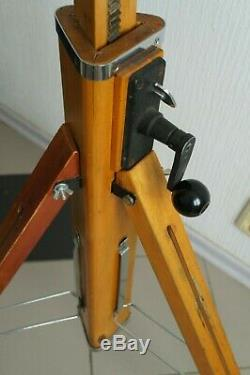 Russian USSR Vintag Wooden tripod FKD 1950-1960 of the last century, height 1.3m