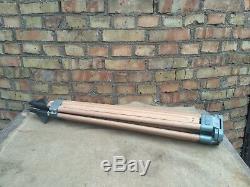 SOVIET VINTAGE theodolite wooden TRIPOD