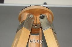 Soviet Wooden Tripod Sliding Tripod Telescopic for Camera Vintage