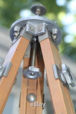 Stunning VTG Wooden Tripod Movie Camera Tripod Sharman