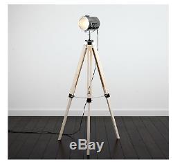Stylish Vintage Retro Lamp Spot Light, Floor Standing Tripod Lighting Designer