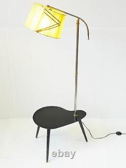 Superb Floor Lamp Tablet Rognon Palette Tripod 1950 Vintage 50's