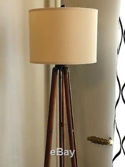 Surveyor Tripod Floor Lamp Upcycled from Vintage Surveyors Transit tripod
