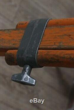 TRIPOD for THEO Carl Zeiss Jena DDR Theodolite Level Aim Vintage Wood & Metal