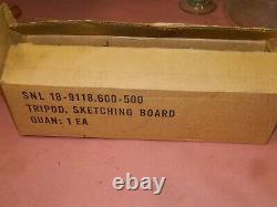 Testrite Vintage Wood & Brass Camera Tripod & Original Box 18-9118.60-500 LOT-B
