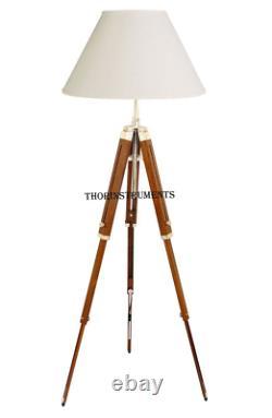 Thor Classical Designer Marine Tripod Floor Lamp Retro Vintage Wooden Tripod