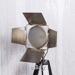 Tripod Floor Lamp Black Vintage Industrial Lounge Lighting Retro Chic Spotlight