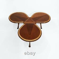 Unique Horse Petal Hoof Tripod Coffee Table MidCentury Antique 50s 60s Vintage