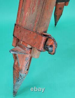 VINTAGE DIETZGEN TELESCOPIC WOOD TRIPOD SURVEY TRANSIT Surveyor Wooden Lamp