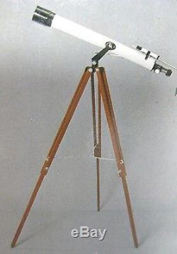 VTG Sears 79-2419 Refractor Telescope 50 To 300 Wooden Tripod Power With Box RARE
