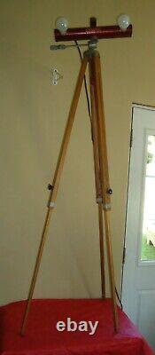 VTG Wooden Camera Tripod w Removable Lights for Camera with Mayfair Multi-Lite