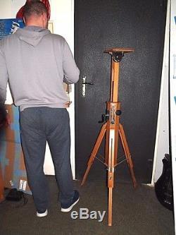 Vintag Wooden tripod for the camera FKD. Original box