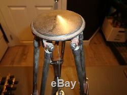Vintage 16 Wooden & Metal CTI Survey Tripod or Lamp Base for Surveying Transit