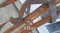 Vintage Adjustable Wooden Surveyors Tripod