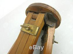 Vintage Antique Wood Camera WOODEN TRIPOD Steampunk Industrial Decor 32-58