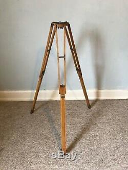 Vintage Antique Wooden Tripod Large Format Camera Lamp Theodolite Stand Light