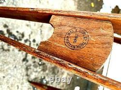 Vintage Antique Wooden Tripod Signed W & L. E. Gurley, Troy N. Y