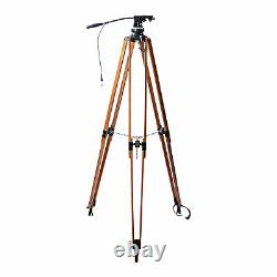 Vintage Arri Wooden Motion Picture Movie Tripod with Head