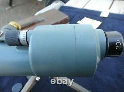 Vintage Bausch & Lomb Balscope Sr, 30x Lense, 60mm, Tripod & Wooden Box, VG