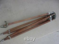 Vintage Camera Equipment Co. Large Wooden Tripod Stand for Camera