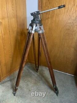 Vintage Camera Equipment Co. NY Junior Professional Cinema Camera Wood Tripod