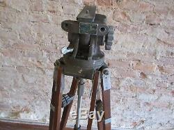 Vintage Camera Equipment Co. Professional Jr Friction Head with Wooden Tripod