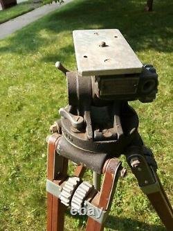Vintage Camera Equipment Company NY Professional Junior Wood Tripod